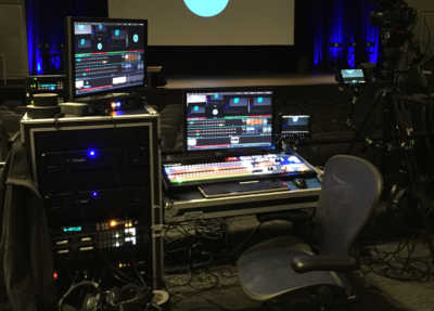 Tricaster, hyperdeck, Image Pro, and clearcomm Repertoire Productions SF bay area silicon valley av